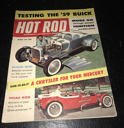 Vintage March 1959 Hot Rod Magazine Testing The 1959 Buick Kendall Motor Oil