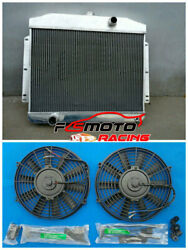 Aluminum Radiator+fan For Mercury With Ford 302 V8 Mt 1949-1951 1950 1949 1951