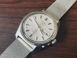 Grand Seiko Watch Gs Hi-beat 36000 Stailess Steel White Dial Steel Strap