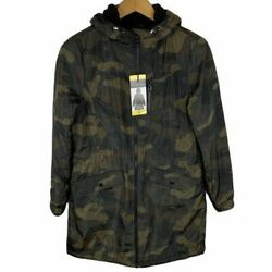 Lucky Brand Premium Performance Camo Hooded Green Anorak Jacket Womenand039s Small