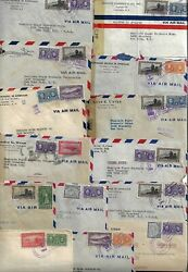 Panama 1940s Large Collection Of 20 Commercial War Time Covers Almost All Censor