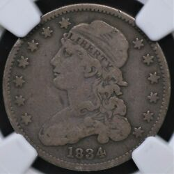 1834 Capped Bust Quarter Ngc Choice Very Good 10 Wholesome And Original Even