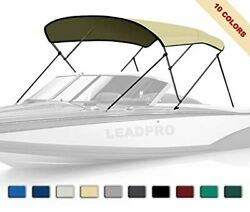 10 Optional Colors 13 Different Sizes 3-4 Bow Bimini Top Boat Cover With 4 Strap