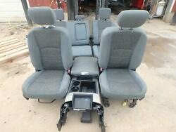 10-18 Dodge 2500 Gray Cloth Front/rear Seats W/console Manual And Power
