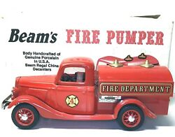 Jim Beam's 1935 Pumper-tanker Fire Truck Decanter With Original Papers And Box