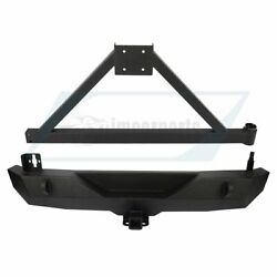 For 2007-2018 Jk Jeep Wrangler Rear Bumper With Tire Carrier And D-ring Unlimited