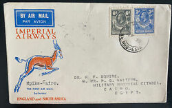 1932 Mpika Northern Rhodesia First Flight Airmail Cover To Cairo Egypt Imperial