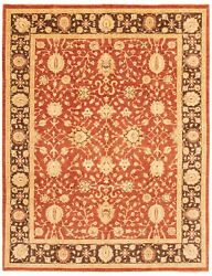 Vintage Hand-knotted Carpet 9'1 X 11'9 Traditional Dark Copper Wool Area Rug