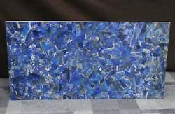 3and039x2and039 Marble Center Coffee Table Top Inlay Antique Pietra Dura Blue Lapis Ff