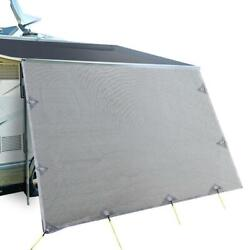 3.4m Caravan Privacy Screens 1.95m Wide Roll Out Awning End Wall Side Sun Shade