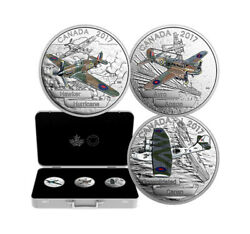Wwii- Aircraft Of The Second World War Set- 3 Coins X 1 Ounce- Fine Silver .999