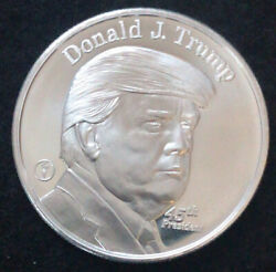 T - Receive 1 Oz Silver President Trump Coin Definitely The Finest