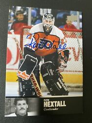 2011-12 Upper Deck Ultimate Legends Ron Hextall Auto Flyers Hard To Find Card