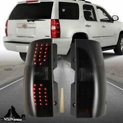 Led Tail Lights Rear Lamps For 07 - 14 Chevrolet Tahoe Suburban 1500 2500 1 Pair