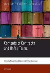 Contents Of Contracts And Unfair Terms By Mindy Chen-wishart 9780198850427