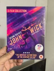 John Wick Film Collection-chapters 1-33- Dvd Brand New Region 2 Free Shipping