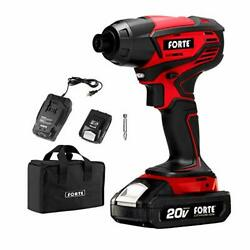 Forte Id20b Cordless Impact Drill Driver Kit - 20v Max 1700 In-lbs Of