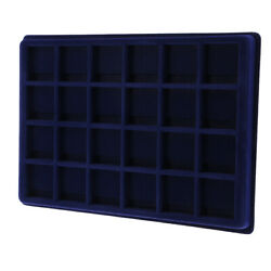 24 Grid Velvet Frame Coin/ Jewelry Display Tray Box For Collector Accessory