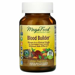 Megafood Blood Builder 60 Tablets Dairy-free Kosher Non-gmo Nsf Certified