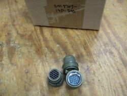 Lot Of 10 Cannon Connector Dm9703-19p-546 Military Aircraft Gold Contacts