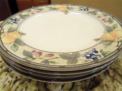4 Mikasa Garden Harvest Dinner Plates Near-mint Condition Low Fast Shipping