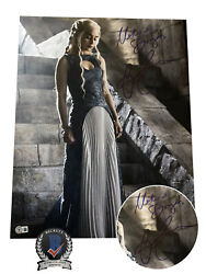 Emilia Clarke Signed And039game Of Thronesand039 Autograph 16x20 Photo Beckett Bas Got 1
