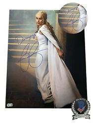 Emilia Clarke Signed And039game Of Thronesand039 Autograph 16x20 Photo Beckett Bas Got 4