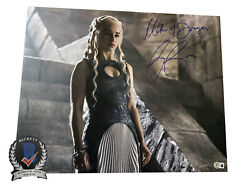 Emilia Clarke Signed And039game Of Thronesand039 Autograph 16x20 Photo Beckett Bas Got 12