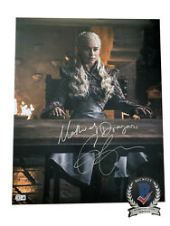 Emilia Clarke Signed And039game Of Thronesand039 Autograph 16x20 Photo Beckett Bas Got 13