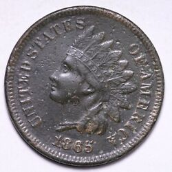 1865 Indian Head Cent Penny Xf Free Shipping E764 Kne