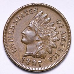 1897 Indian Head Cent Penny Choice Unc Free Shipping E829 Jnm
