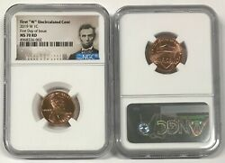 2019 W Lincoln Cent 1c Uncirculated Ngc Ms 70 Rd First Day Of Issue R9