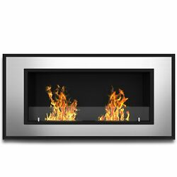 Regal Flame Brooks 47 Inch Ventless Built In Recessed Bio Ethanol Wall Mounte...
