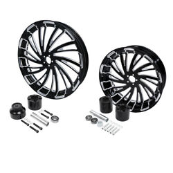 21 Front And 18'' Rear Wheel Rim Hub Fit For Harley Touring 2008-2021 Non Abs