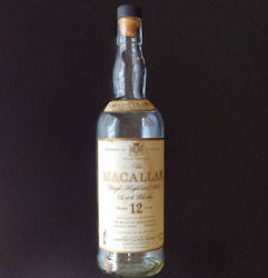 Macallan 12 Year Old Italy Label Empty Bottle Whisky Giovenetti And Figli Millano