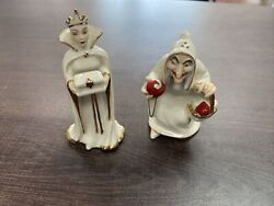 Disney Snow White Evil Queen Witch Bad Apple Lenox Salt And Pepper Shakers New