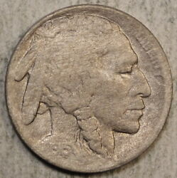 1915-d Buffalo Nickel Very Fine+ Details Full Horn And Date Cleaned  0908-03
