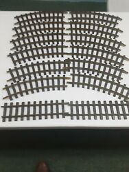 Lgb Brass Track = 12 Pc Curved Track And 2 Straight Track