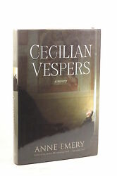 First Edition Cecilian Vespers A Mystery A Collins-burke Mystery - Emery, Ann