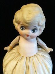 Google Eye 1920and039s Vintage Flapper Doll Pincushion Pin Cushion W/ Moveable Arms