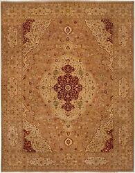 Vintage Hand-knotted Carpet 9'2 X 11'9 Traditional Oriental Wool Area Rug