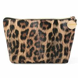 Makeup Bag Travel Cosmetic Bag for Purse Small Bag Leopard Cute Pouch Gift fo... $15.98