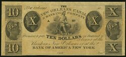 Obsolete New Orleans, La- New Orleans Canal And Banking Company 10 18__ Remainder