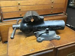 """Vintage Wilton Cadet Bench Vise 4.5"""" Jaws Pre-1957 Rare Made In Chicago Usa"""
