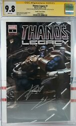 🌟 Cgc Ss 9.8 Nm+ Thanos Legacy 1 Variant Signed Donny Cates + Skan Srisuwan
