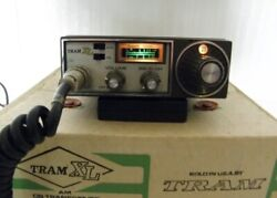Tram Xl Cb Radio 23 Channel With Box And Microphone Rare A Must Have