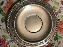 Wm Rogers And Son Spring Flower 2021 12.5 Silverplate Serving Tray