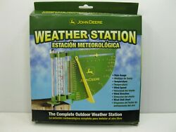 New John Deere Weather Station Rain Gauge Thermometer Wind Speed And Direction