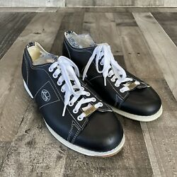 Linds Men Classic Black Right Hand Bowling Shoes Size 10.5 10 1/2 Wide Width Eee