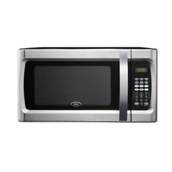 Oster 1.3 Cu Ft 1100 Watt Microwave Oven - Stainless Steel Great For Dorm Room
